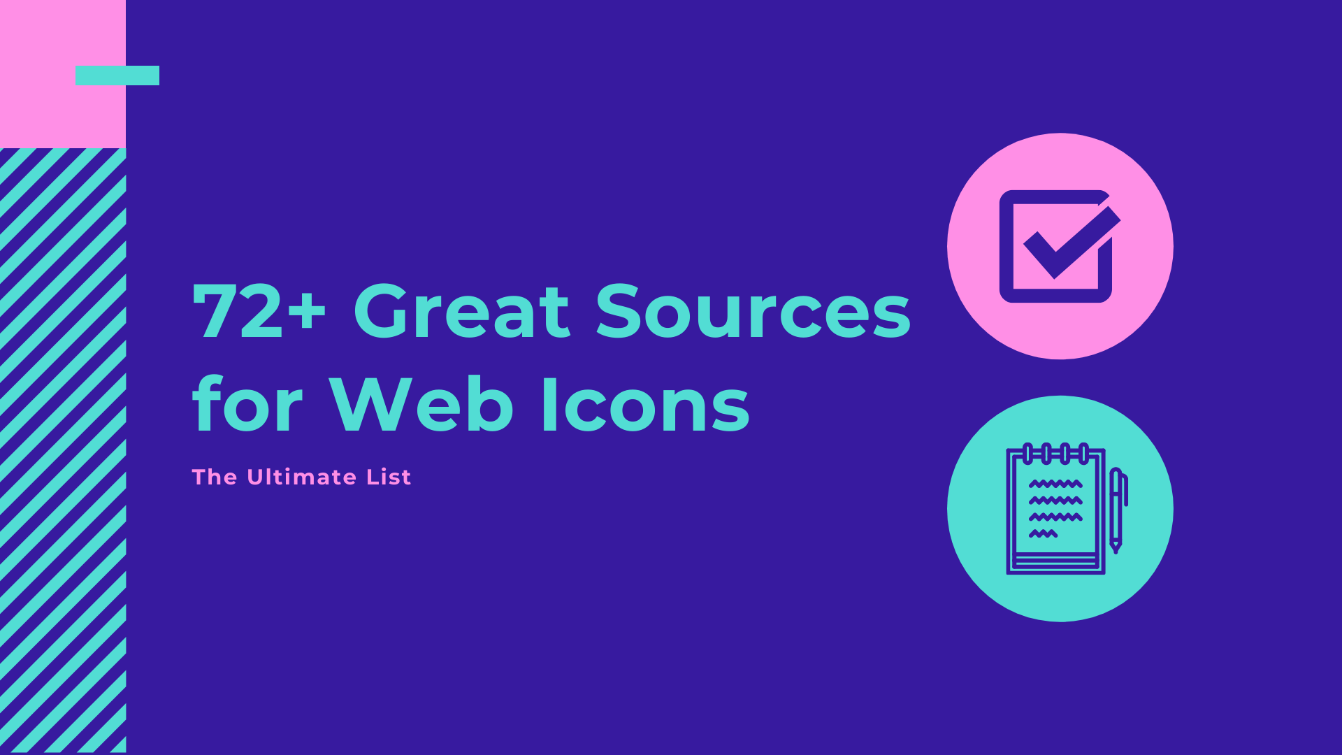 72+ Great Sources for Web Icons